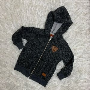 7 FOR ALL MANKIND | Heather Gray Full Zip Hoodie